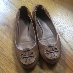 TORY BURCH - reva flat royal tan